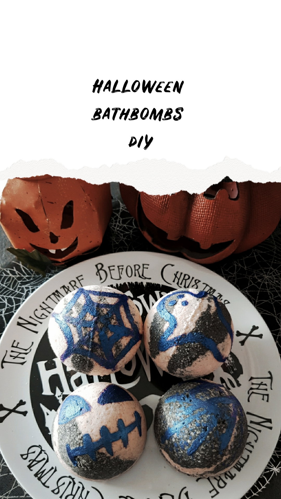 Halloween bathbombs diy